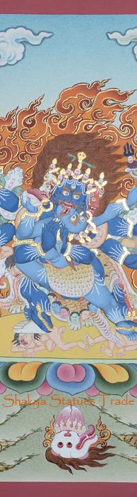Vajrakilaya Tibetan Religous Thangka Scroll Painting - Shakya